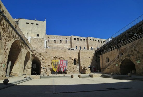 Courtyard - Picture of Crusader Fortress, Acre - TripAdvisor