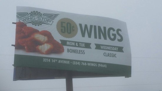 Valley, AL: $0.50 wings Monday - Wednesday