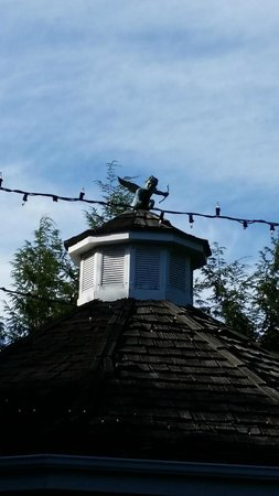 Nesselrod Bed and Breakfast: Top of Gazebo where ceremony took place
