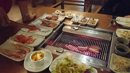Parrilla en la mesa picture of hanuri korean bbq grill - Barbacoas de mesa ...