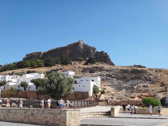 Ancient Amphitheatre - Picture of Village of Lindos ...