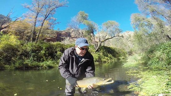Brown picture of sedona fly fishing adventures day for Sedona fly fishing