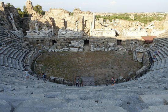 side antique theatre - Picture of Greek Amphitheater, Side ...