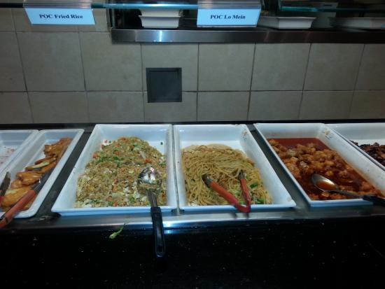 POC Buffet: rice and pasta area