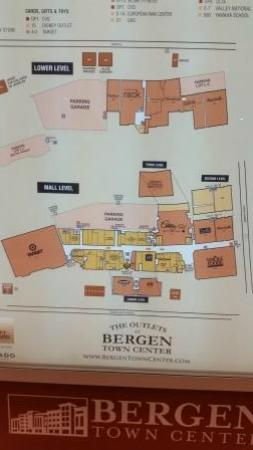 The Outlets At Bergen Mall Map Picture Of The Outlets At Bergen Town Center Paramus