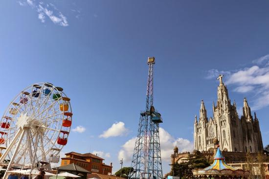 Barcelona Tibidabo Funfair Tibidabo Mountain Funfair And