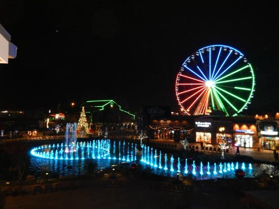 View From Fountain View Room At Night Picture Of Margaritaville Island Hotel Pigeon Forge