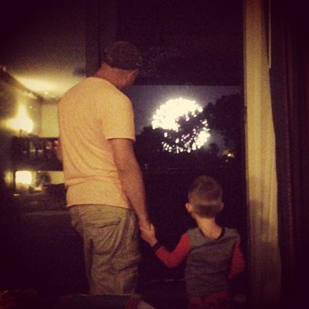 Disney s wilderness lodge photo mk fireworks from room 5024 july
