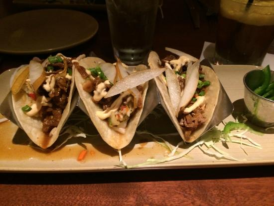 Asian pork tacos picture of monkeypod kitchen wailea for Asian cuisine maui