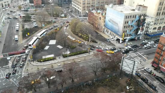 Rush hour traffic into the holland tunnel from 19th floor for 22 river terrace ny ny