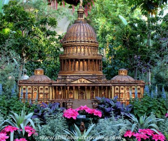 Miniature Replica Of The Capitol As Seen At The Us Botanic Garden During The Holidays