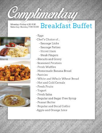 Country star bathroom ideas - Complimentary Full Hot Breakfast Buffet Menu Picture Of Best