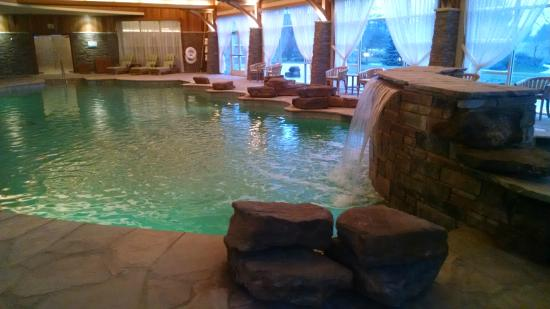 Lodge pool hot tub is to the right of the waterfall - Hotels in verona with swimming pool ...