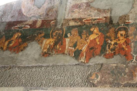 Wall painting at ajanta caves picture of ajanta caves for Ajanta mural painting