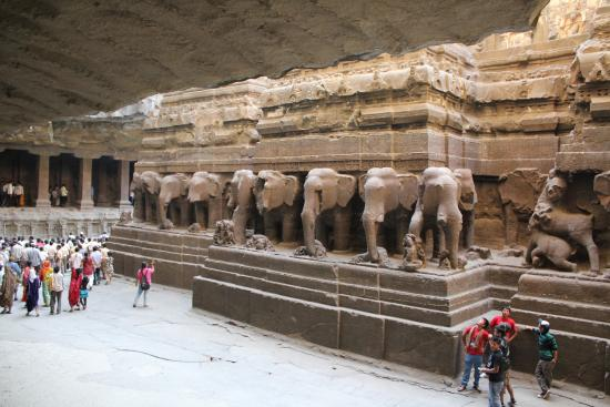 Kailash Temple Of Ellora Caves Picture Of Ajanta Caves