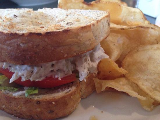 New Windsor, MD: Chicken salad sandwich with home made chips