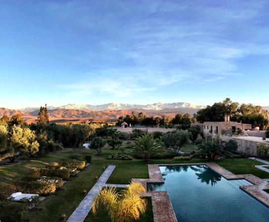 The Capaldi: Sunbath with a view of snowcapped Atlas mountains
