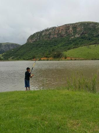 Fishing on one of the lakes foto van lake eland game for Lake fishing games