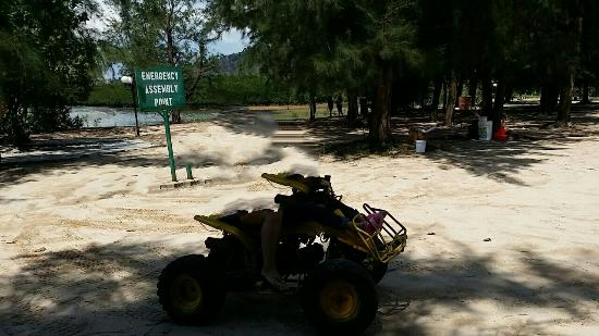 HARRIS Resort Batam Waterfront: ATV and its limited compound