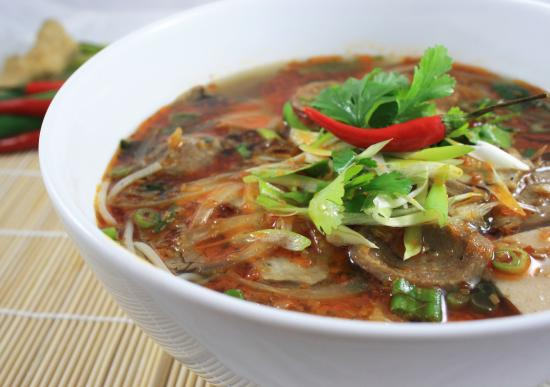 Bun Bo Hue (Spicy Beef and Pork Noodle Soup) - Picture of Pho Viet ...