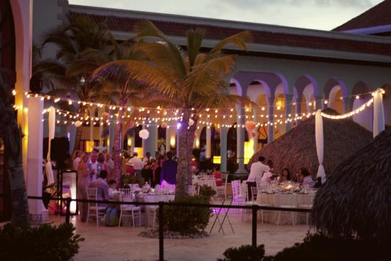 Beach bistro wedding