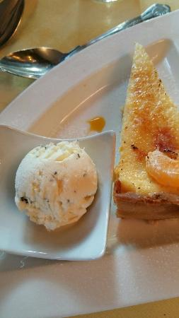 Orange and cointreau tart with rosemary and honey ice cream - Picture ...