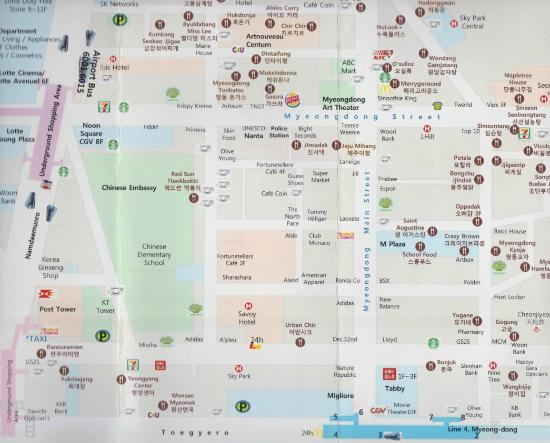 Myeongdong Map Picture Of Myeongdong Hyper Shopping