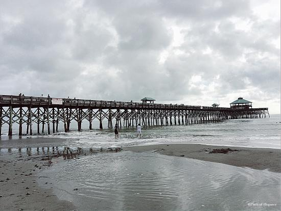 The pier at folly beach provides a great view of the beach for Folly beach fishing