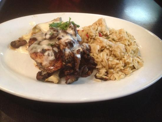 Ruby Tuesday Photo: Chicken bella with rice pilaf