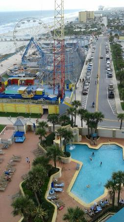 Pool And Entertainment Pier Picture Of Hilton Daytona Beach Ocean Walk Village Daytona