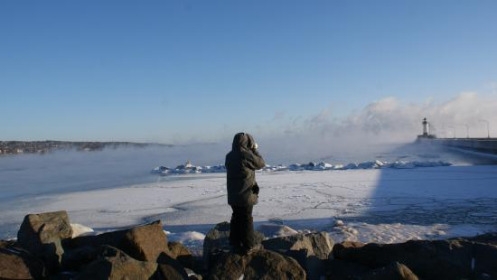 Duluth, MN: Lake Superior on a cool morning