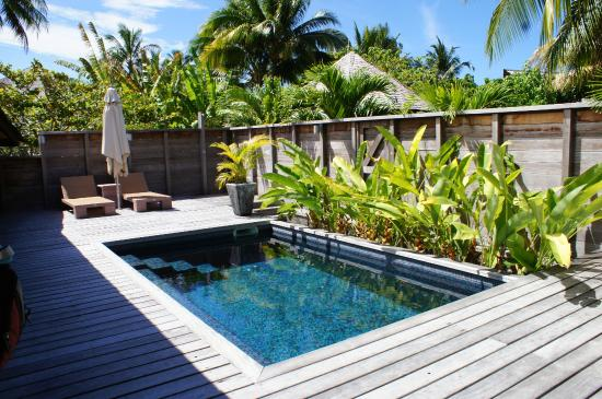 Hilton moorea garden pool bungalow with deck picture of for Garden pool bungalow