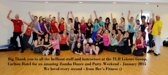 TLH Leisure Resort: Group picture along with the Fitness Instructors from TLH