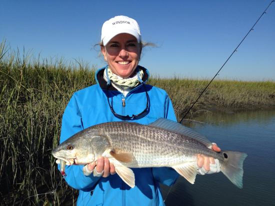 Beaufort sc guided sight casting and fly fishing redfish for Beaufort sc fishing