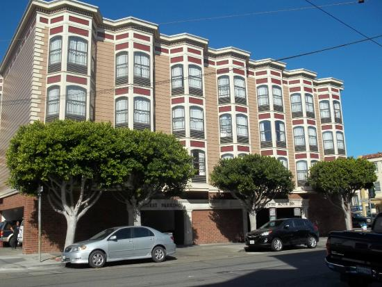 View of the hotel from the side street buchanan for Coventry motor inn san francisco