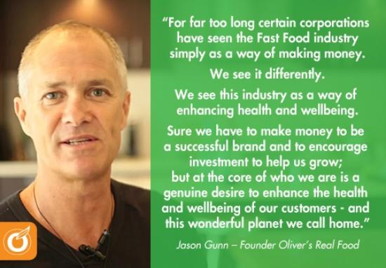 Oliver's Real Food: Quote from the founder Jason Gunn - oliver-s-real-food