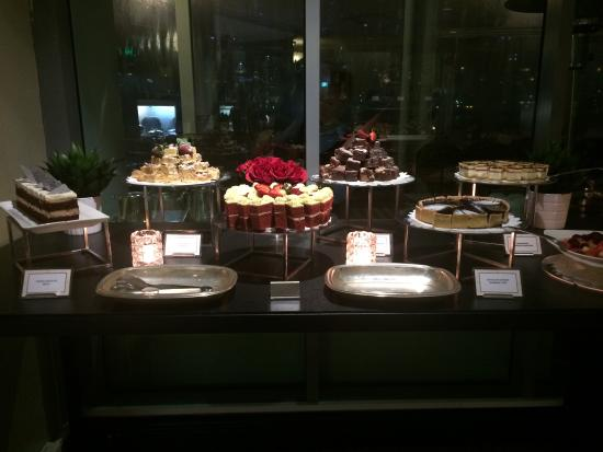 Dessert table picture of the brasserie on the river for Table for 6 brisbane