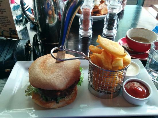 Lunch lamb burger with beautiful chunky fries and aioli! - Picture of ...