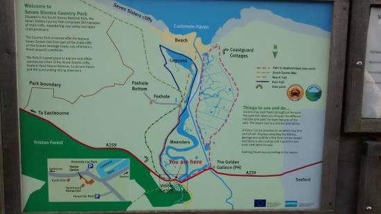 Seaford, UK: Country Park Map