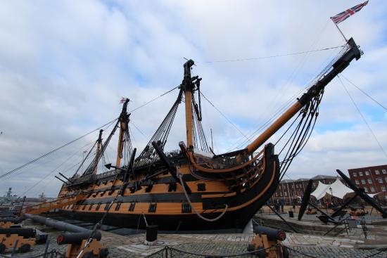 hms victory fire