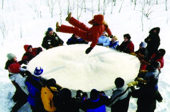 Inuit Games Blanket Toss Picture Of Fort Whyte Alive