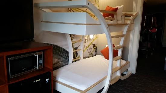 bunk beds in separate space room picture of courtyard anaheim resort