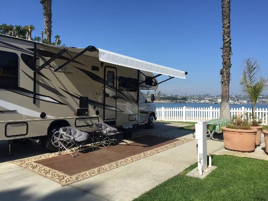 Newport Dunes Waterfront Resort: Our camp site