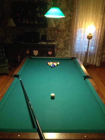 Hollerstown Hill: They have billiard room! Along with chess board and characters pieces from the civil war.