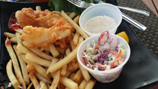 Real fish and chips yummm picture of moana terrace for Terrace fish and chips