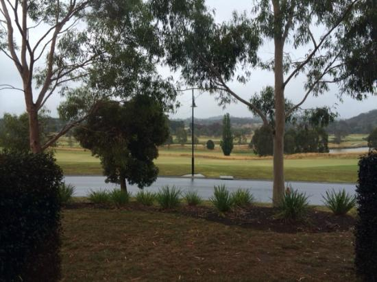 view of golf course from room picture of yarra valley. Black Bedroom Furniture Sets. Home Design Ideas