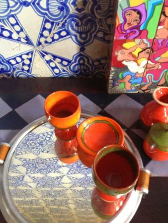 Tea tray picture of la chambre bleue tunis tripadvisor for Chambre bleue tunis
