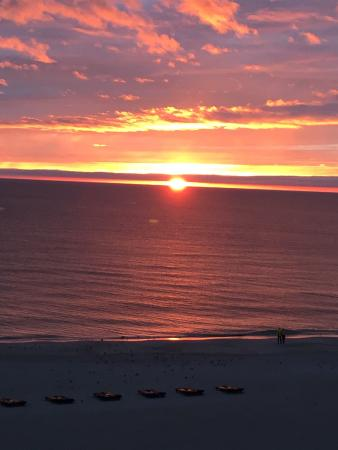 Beach Place Condos at John's Pass Village: Sunset at Madeira Beach