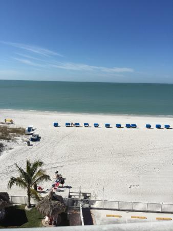 Beach Place Condos at John's Pass Village: Balcony beach view from 5th floor