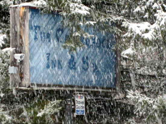 Shandaken, NY: A light dusting of snow viewed from the cozy confines of Copperhood!